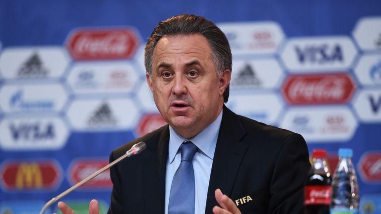 Vitaly Mutko says Blatter and Platini will be invited to the World Cup in Russia