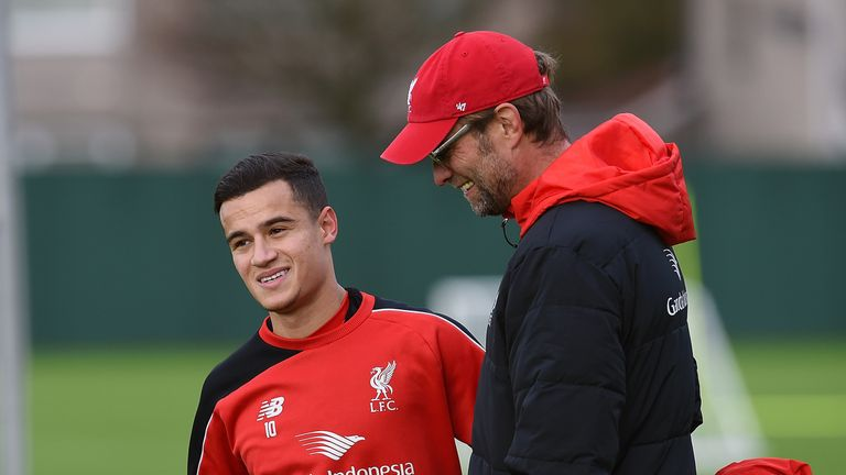 Jurgen Klopp has used Coutinho as a No 10