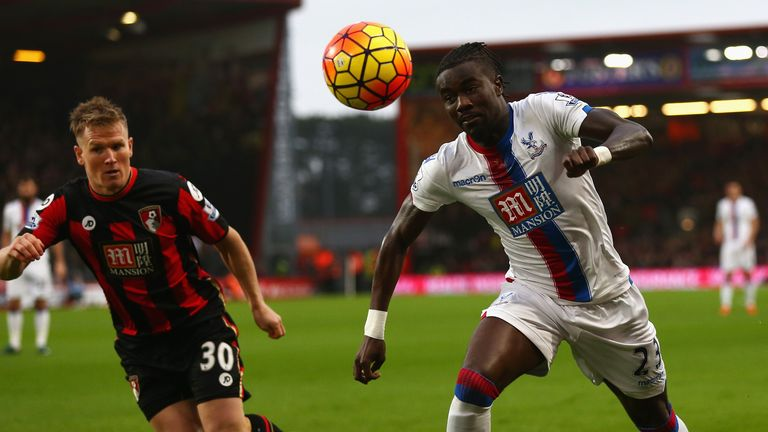 Pape Souare takes on Matt Ritchie
