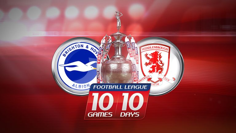Brighton host Middlesbrough in the penultimate 10 in 10 fixture