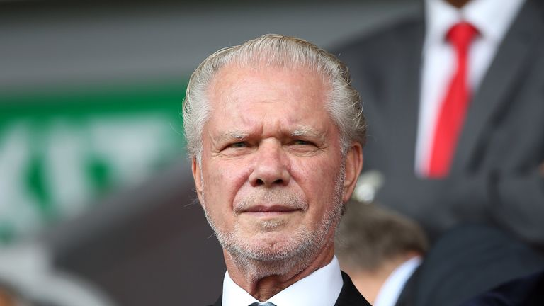 West Ham co-chairman David Gold attended the event with full-back Sam Byram