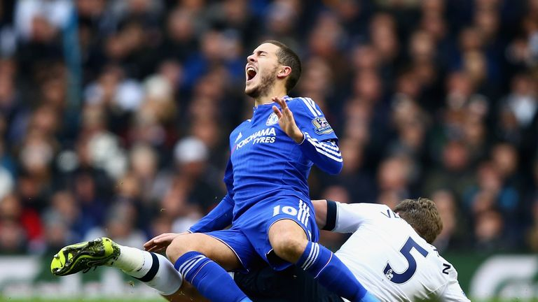 Eden Hazard was one of three players singled out by Chelsea supporters for his poor performances this season