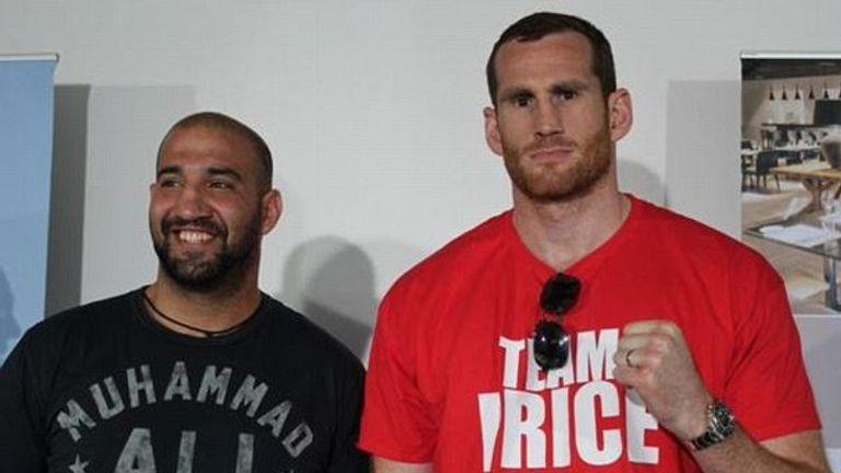 Erkan Teper (L) and David Price fought in July