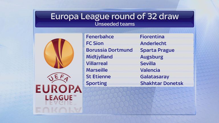 The 16 unseeded teams for the last-32 round