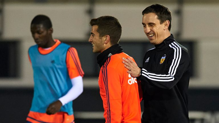 Neville was surprised by what he first saw when coaching at Valencia