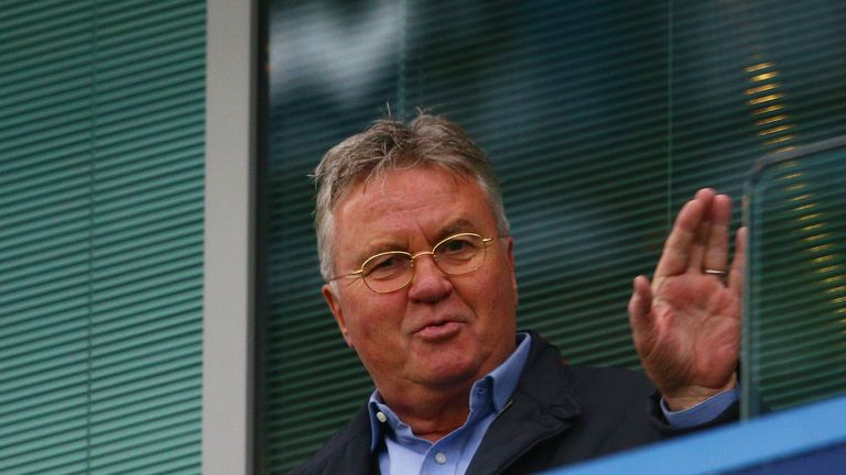Chelsea interim manager Guus Hiddink takes charge of his first game on Boxing Day