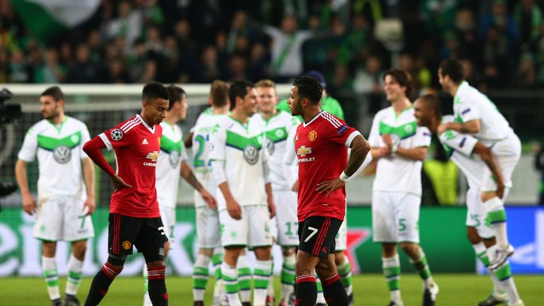 Manchester United crash out of the Champions League after Wolfsburg defeat