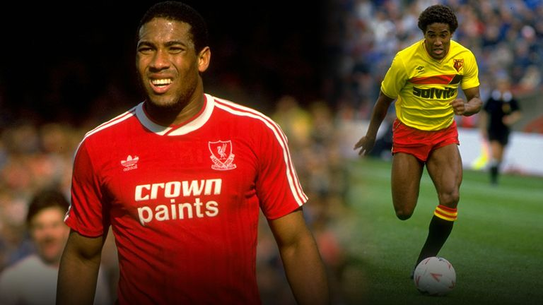 England winger John Barnes is a legend at both Liverpool and Watford
