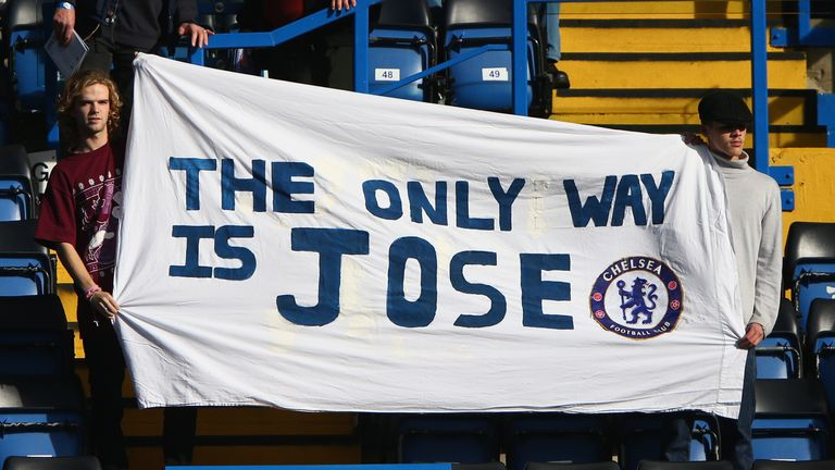 Mourinho had a strong relationship with the supporters at Stamford Bridge