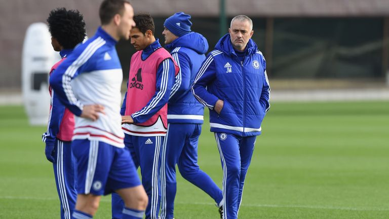 Mourinho took training on Thursday before being sacked