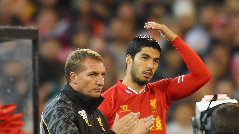 Rodgers rued Luis Suarez's departure to Barcelona