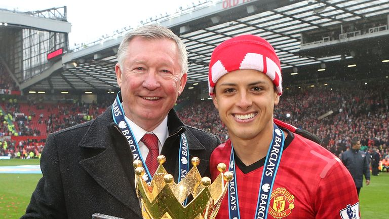 Hernandez won two Premier League titles with United