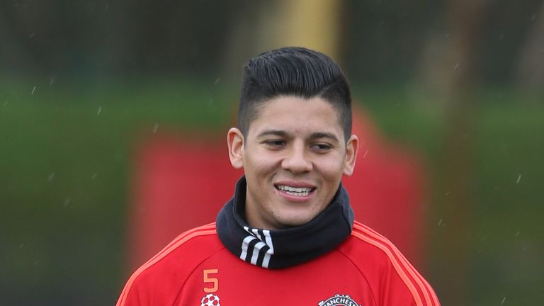 Marcos Rojo is currently out with a shoulder problem