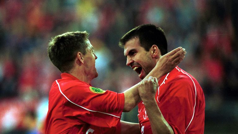 Markus Babbel scored in the UEFA Cup final for Liverpool