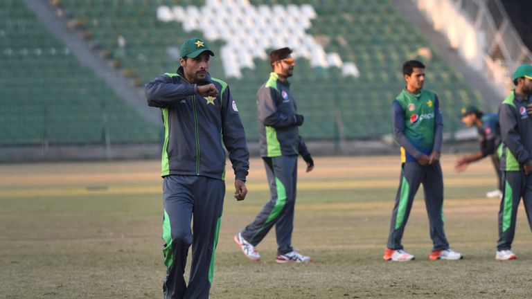 Amir pictured during Pakistan's training camp in Lahore