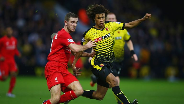 Chelsea's Nathan Ake (right) has been getting Premier League experience with Watford