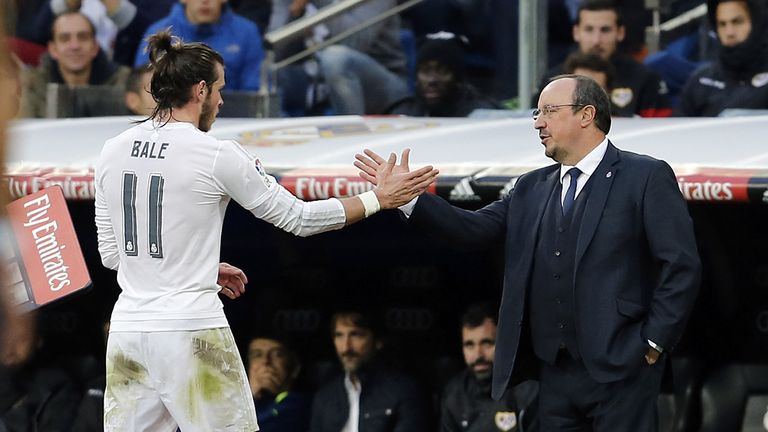 Gareth Bale is said to be unhappy that Rafael Benitez has been sacked as Real Madrid coach