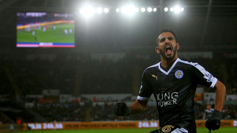Leicester's Riyad Mahrez has scored 13 goals so far in the 2015/16 season