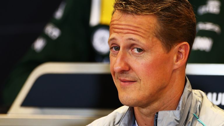 One of the most recognisable sportsmen on the planet, Schumacher hasn't been pictured since his skiing accident