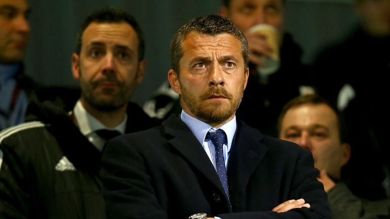 Slavisa Jokanovic watched his new side from the stands at Craven Cottage