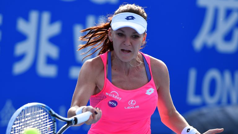 Agnieszka Radwanska is up to fourth in the world rankings