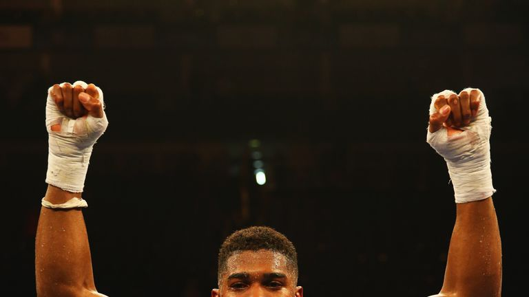 Anthony Joshua could be one fight away from a world title shot