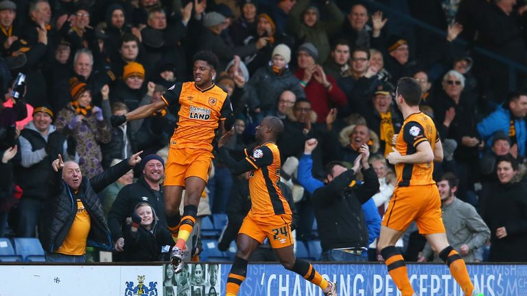Chuba Akpom scored a hat-trick as Hull eased past Bury in their FA Cup fourth round tie