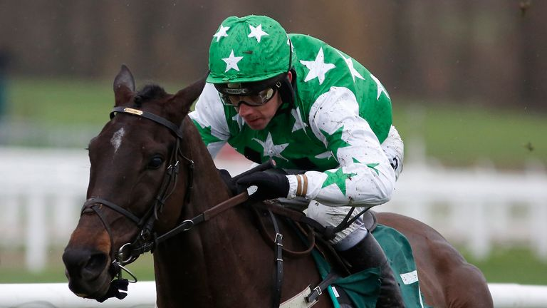 Camping Ground comes home clear in the Relkeel Hurdle.