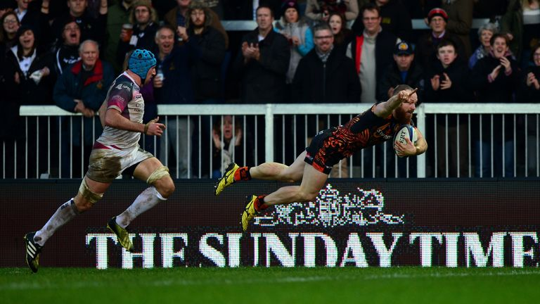James Short was in scintillating form on the Exeter wing