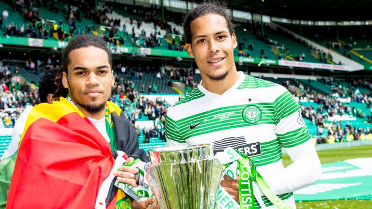 Van Dijk helped Celtic to a domestic double in 2014-15