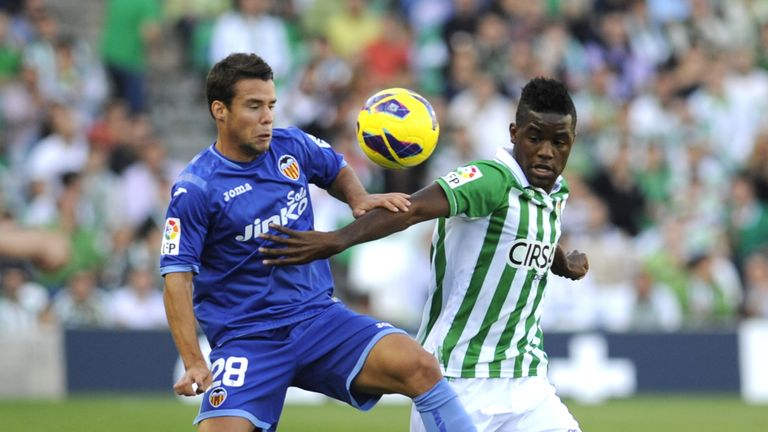 Campbell spent the 2012/13 season on loan at Real Betis in La Liga