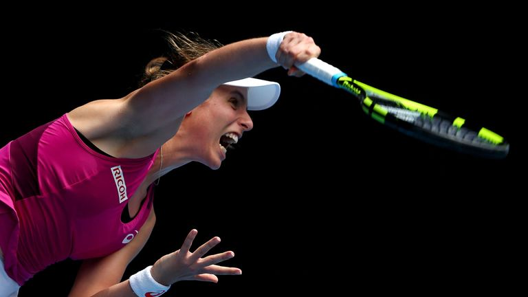 Konta has won 73 per cent of first serve points in Melbourne and served up 21 aces