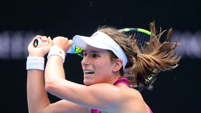 Victory over Zhang takes Konta to a career-high provisional ranking of 28th