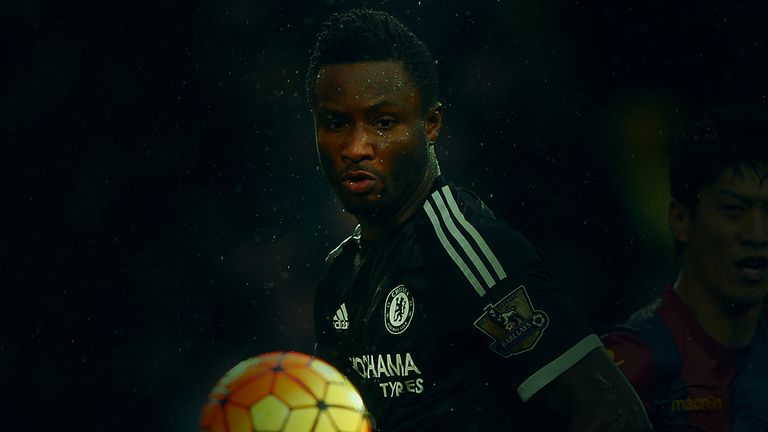 Mikel's completed 78 passes in Chelsea's 3-0 victory over Crystal Palace
