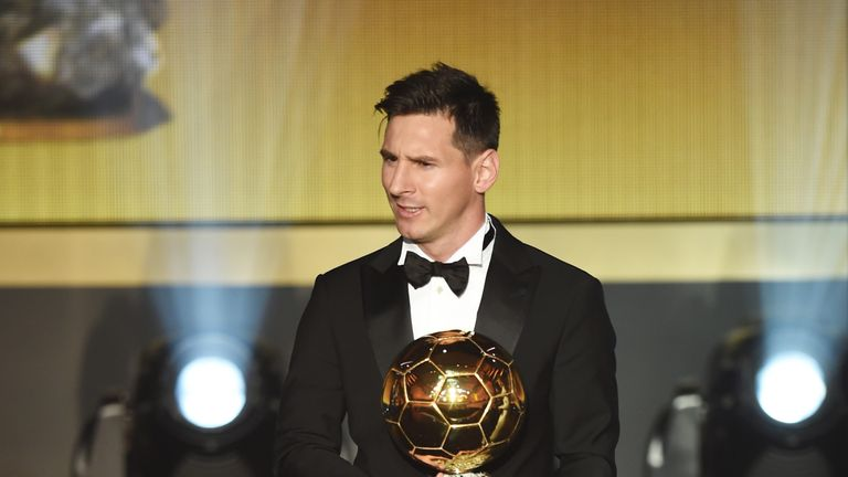 Lionel Messi has won the trophy five times, a joint record with Cristiano Ronaldo