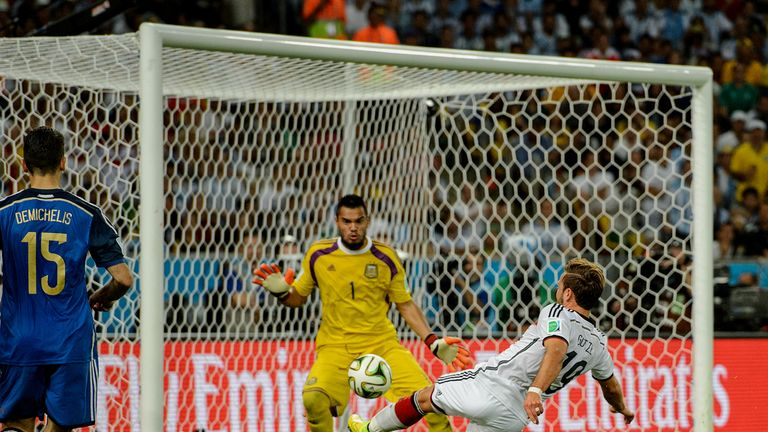 Gotze scored Germany's winning goal in the 2014 World Cup final