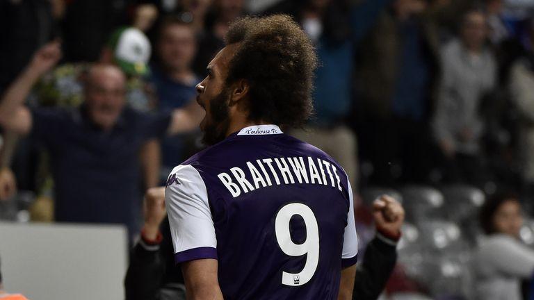 Toulouse's Danish forward Martin Braithwaite scored the winner