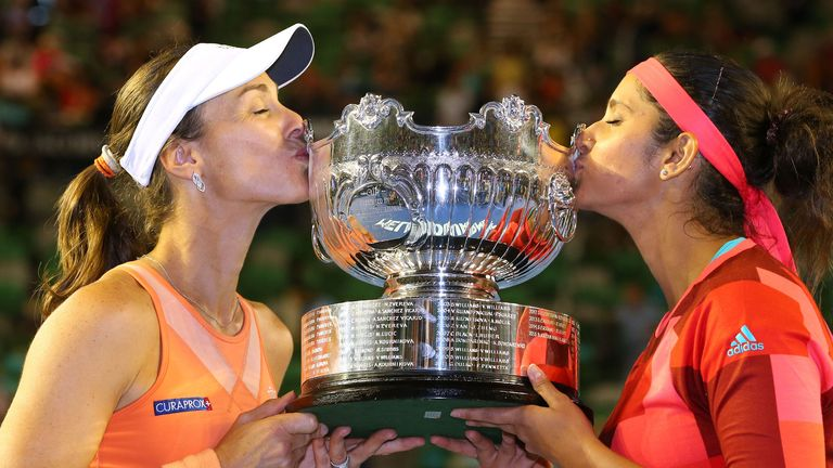 Hingis and Sania Mirza forged a successful partnership on the doubles court