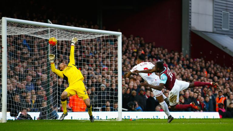 Michail Antonio scored the game's opening goal from a right-wing cross