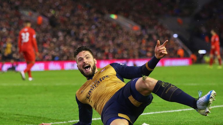 Giroud has not scored since bagging a double in the 3-3 draw at Liverpool in January