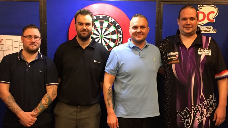 Ross Smith, Ryan Palmer, Yordi Meeuwisse, Vincent Kamphuis have qualified for the PDC Tour
