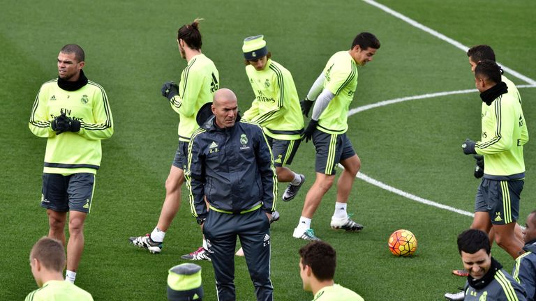 Zidane takes Real Madrid training following his appointment in January