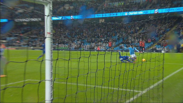 Raheem Sterling falls under John Stones' challenge, but did Dermot Gallagher think it was a penalty?