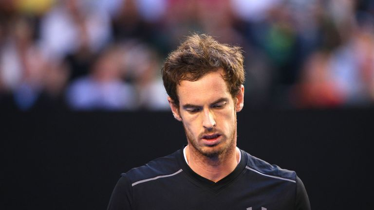 Andy Murray was broken twice in the first set