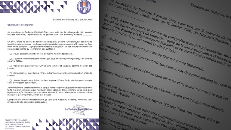 Toulouse's letter to the city's bosses