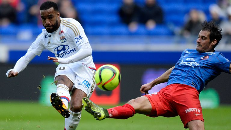 Lacazette has been a prolific scorer for Lyon in French Ligue 1