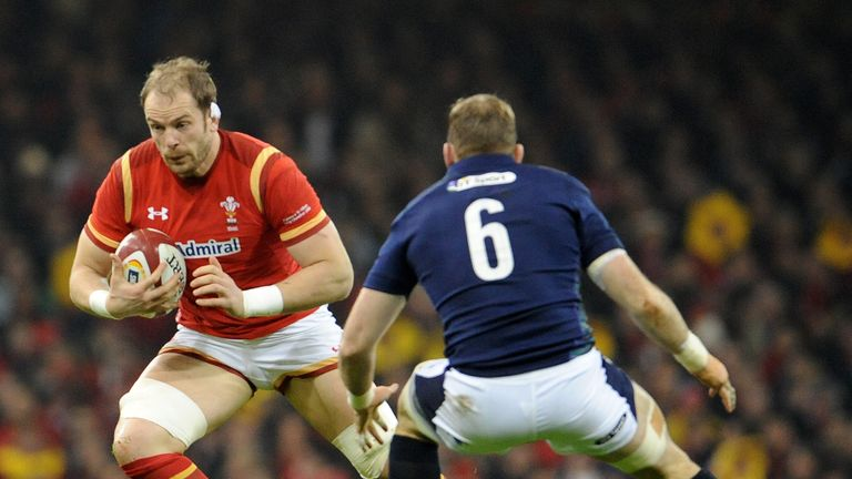Alun Wyn Jones once again led from the front for Wales