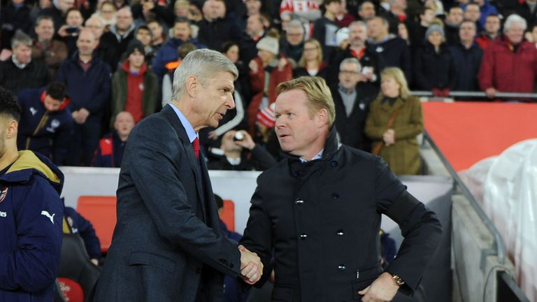 Arsenal manager Arsene Wenger and Southampton boss Ronald Koeman were involved in a tunnel confrontation after their sides' 0-0 draw