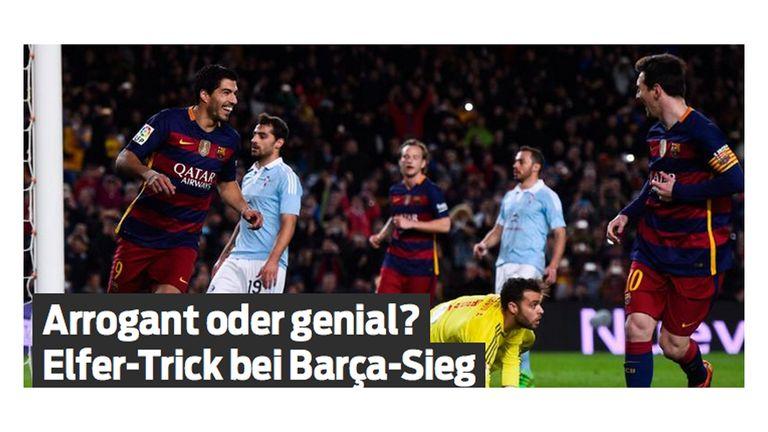 German newspaper Bild asked whether the penalty was 'arrogant or genius'