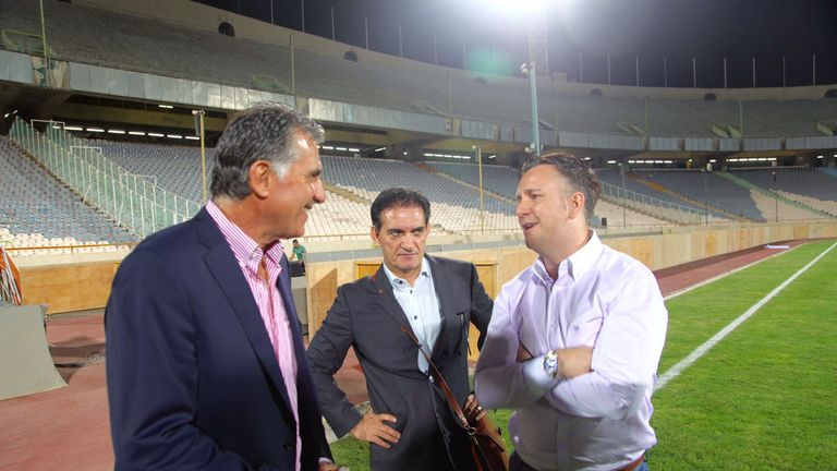 Iran head coach Carlos Queiroz has been mentoring White for his qualifications